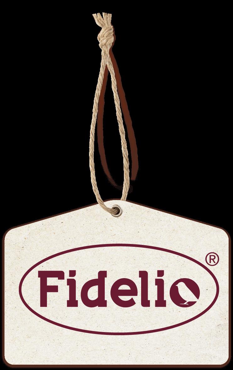 Hangtag mit Fidelio-Logo