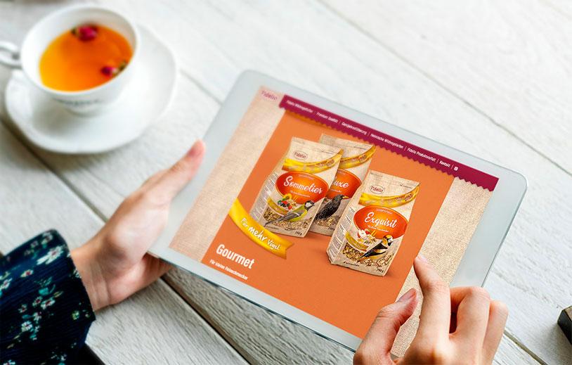 Fidelio Website auf Tablet