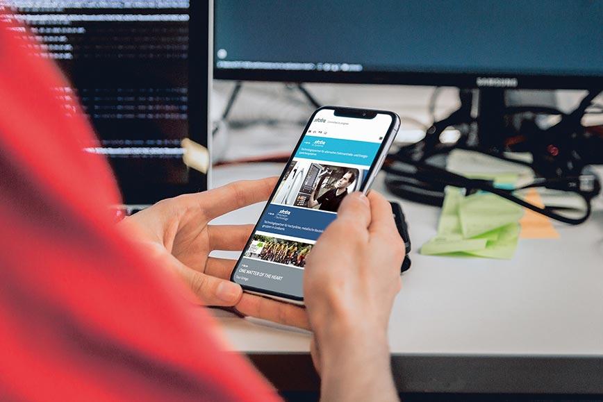 stoba Website auf Smartphone