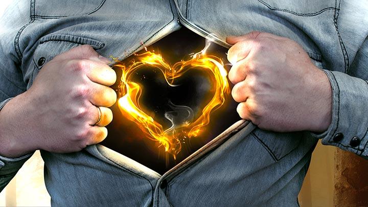 WERTMACHER brennendes Herz in der Brust