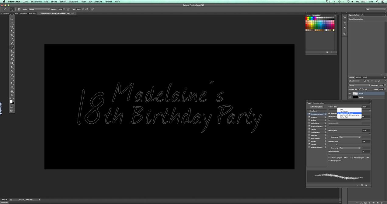 Blogbeitrag: Photoshop Tutorial: Schriftzug im Feuerwerkslook 02