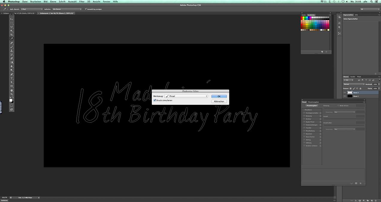 Blogbeitrag: Photoshop Tutorial: Schriftzug im Feuerwerkslook 03