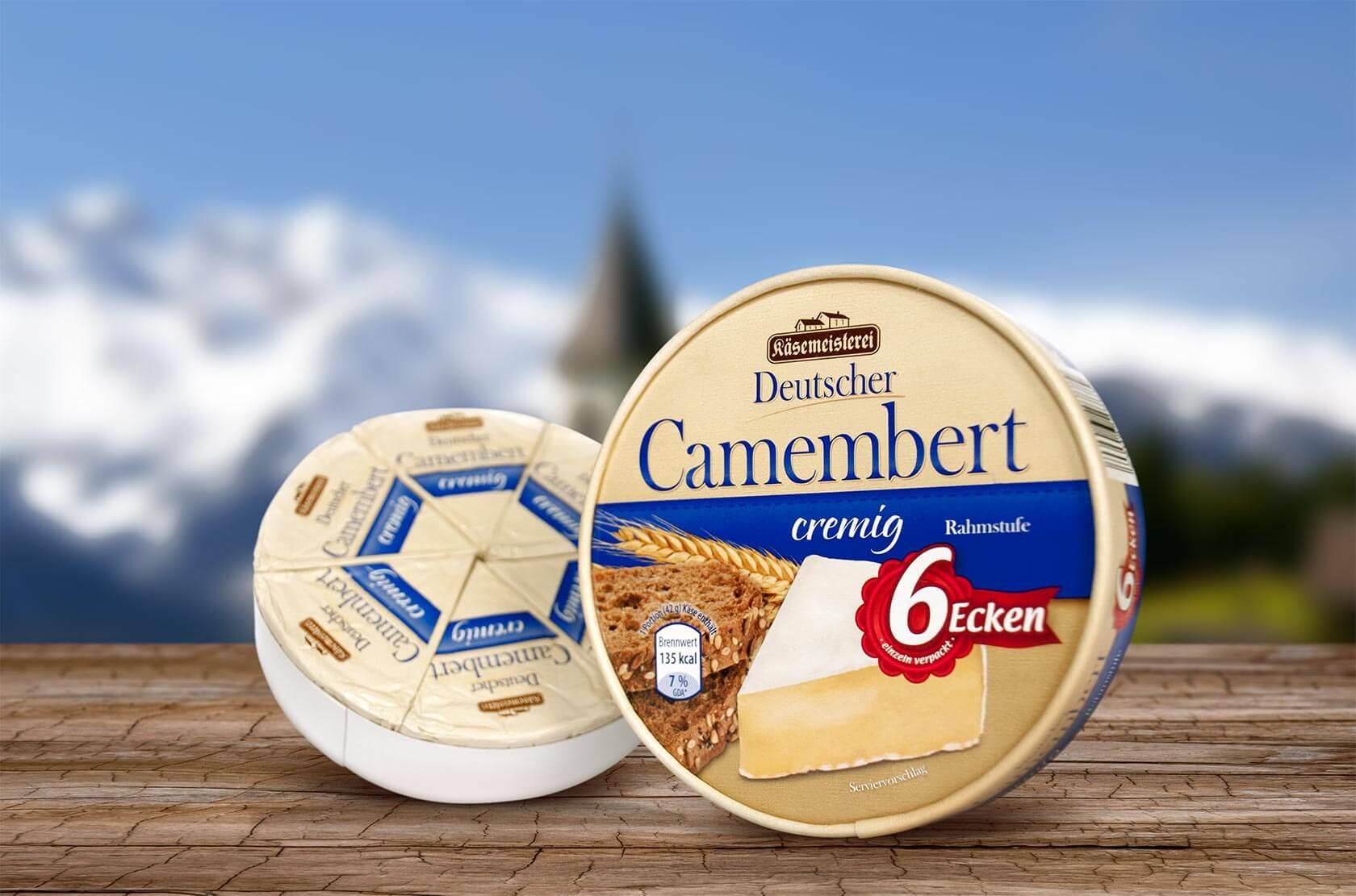 Käserei Champignon – Verpackungsdesign Deutscher Camembert
