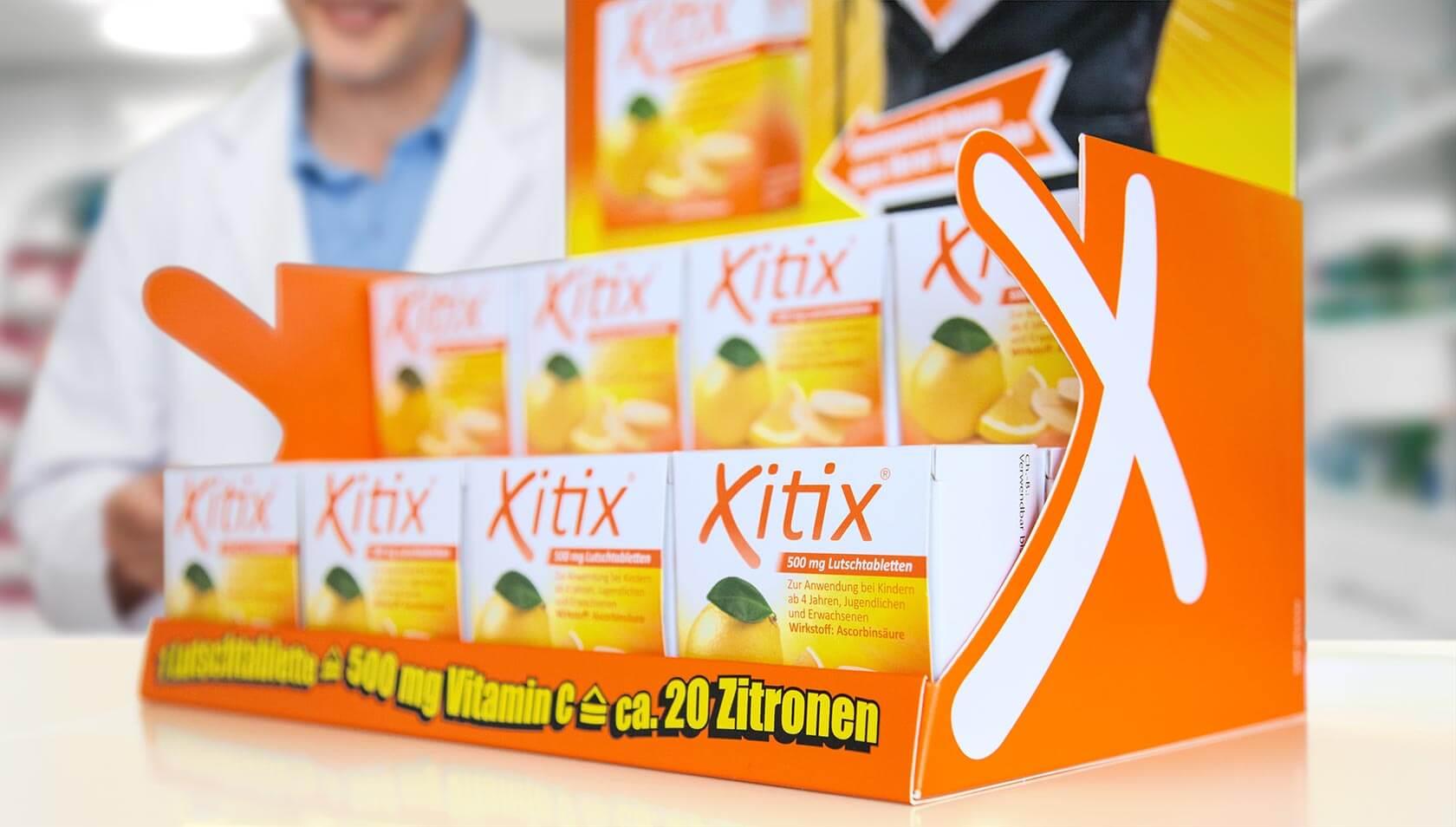 Xitix Display Gestaltung und Text