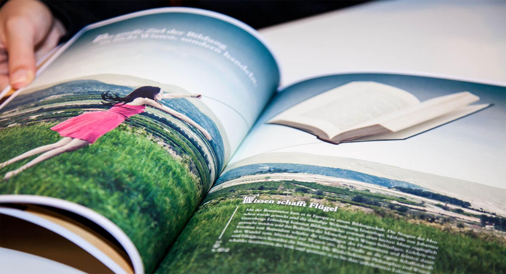 ZEG Geschäftsbericht – Innenseite Gestaltung und Text
